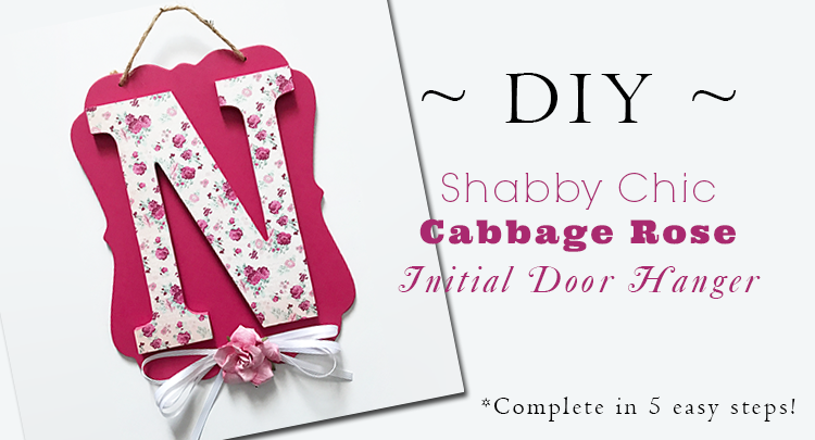 diy-shabby-chic-cabbage-rose-initial-door-hanger-in-pink